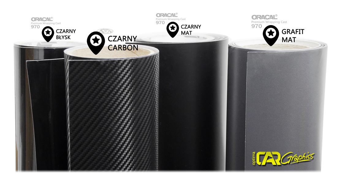 czarna folia samochodowa carbon czarna zmień kolor