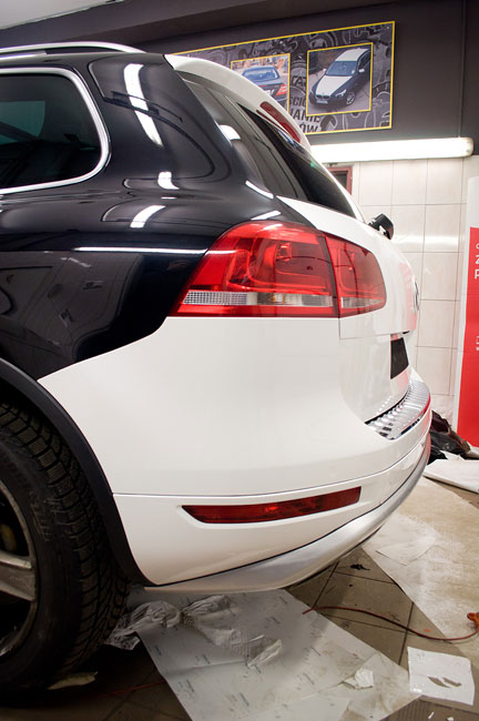 VW Touareg wrap car | CARGRAPHICS Zmiana koloru auta Szczecin